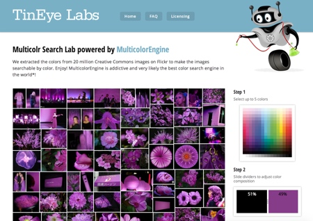 TinEye Labs Multicolr Screenshot