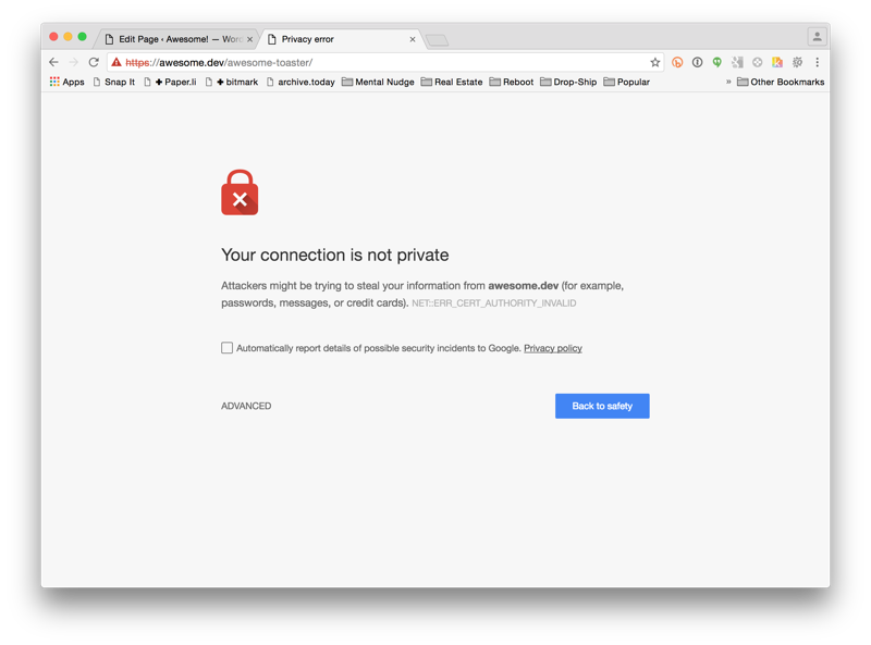 Gravity Forms SSL Error