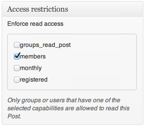 Groups Access Restrictions