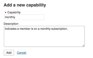 Capability Monthly