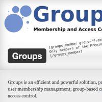 Wordpress Groups Plugin