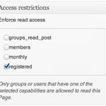 Groups Access Restrictions Registered