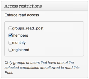 Post Access Restrictions