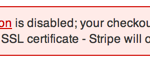 Stripe SSL Message