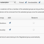 Subscription Groups Settings