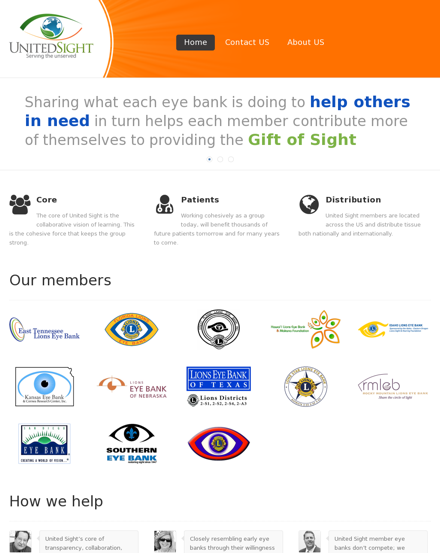 United Sight Eye Banks Website