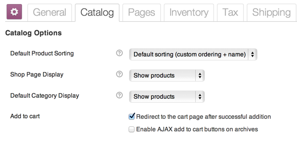 WooCommerce Catalog Options