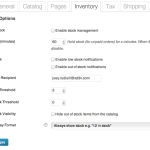 WooCommerce Inventory Options